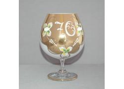 Jubilee Glass Natalie for cognac 70 years white www.sklenenevyrobky.cz