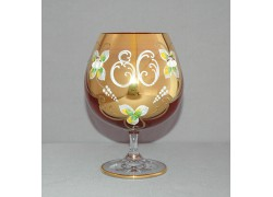 Jubilee Glass Natalie for cognac 80 years ruby www.sklenenevyrobky.cz