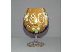 Jubilee Glass Natalie for cognac 80 years blue www.sklenenevyrobky.cz