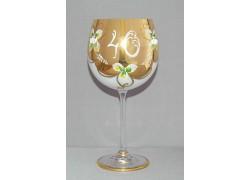 Výroční sklenička Natálie 40 Opál 570 ml