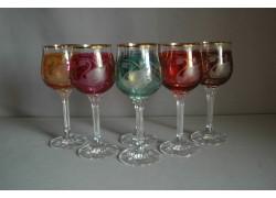Wine glass, 6 pcs, with swan decor www.sklenenevyrobky.cz