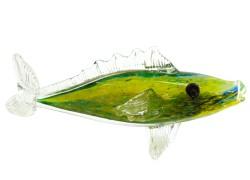 Pike perch - colored glass www.sklenenevyrobky.cz