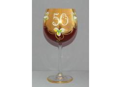 Jubilee glass Natalie 50 years ruby red www.sklenenevyrobky.cz