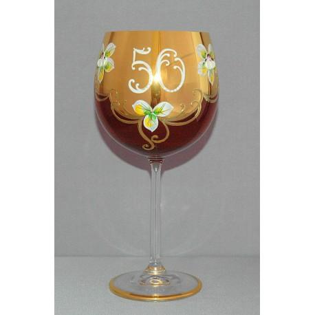 Výroční sklenička Natálie 50 Rubín 570 ml www.sklenenevyrobky.cz