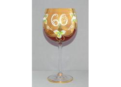 Výroční sklenička Natálie 60 Rubín 570 ml