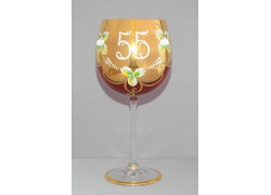 Jubilee Glass Natalie 55 years 570 ml ruby www.sklenenevyrobky.cz