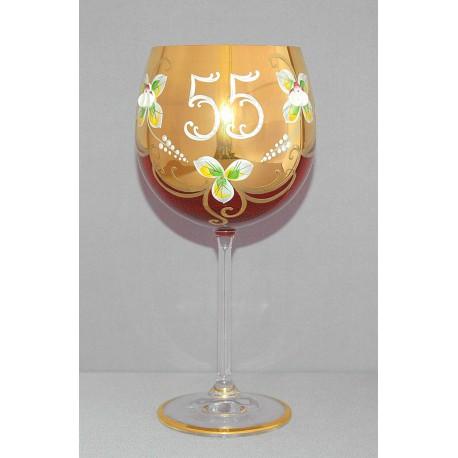 Výroční sklenička Natálie 55 Rubín 570 ml