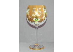 Výroční sklenička Natálie 55 Opál 570 ml