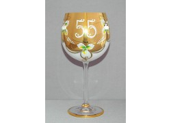 Výroční sklenička Natálie 55 let Opál 570 ml www.sklenenevyrobky.cz