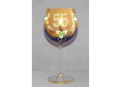 Jubilee Glass Natalie 55 years 570 ml blue www.sklenenevyrobky.cz