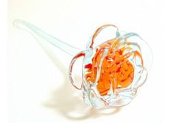 Glasrose, klares Orange www.sklenenevyrobky.cz