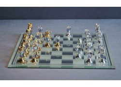 Cut glass chess 500/11 18x18 cm