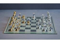 Skleněné šachy 500/11 broušené 18x18 cm