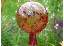 Fence glass ball 12cm in red www.sklenenevyrobky.cz