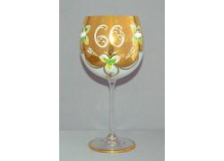 Výroční sklenička Natálie 60 Opál 570 ml