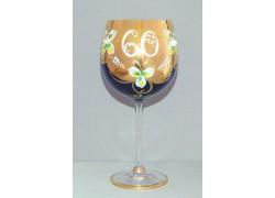 Výroční sklenička Natálie 60 Kobaltová modř 570 ml