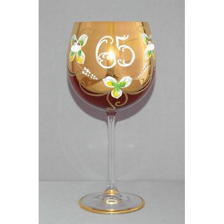 Výroční sklenička Natálie 65 Rubín 570 ml