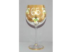 Jubilee Glass Natalie 65 years 570 ml white www.sklenenevyrobky.cz