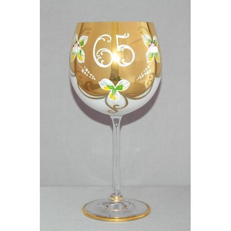 Výroční sklenička Natálie 65 Opál 570 ml