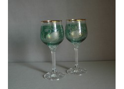 Diana 190ml listr duo dekor labuť zelená