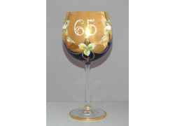 Jubilee Glass Natalie 65 years 570 ml blue www.sklenenevyrobky.cz