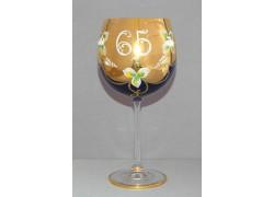 Výroční sklenička Natálie 65 Kobaltová modř 570 ml