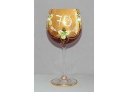 Výroční sklenička Natálie 70 Rubín 570 ml
