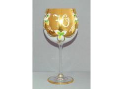 Jubilee Glass Natalie 70 years 570 ml white www.sklenenevyrobky.cz
