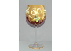 Výroční sklenička Natálie 80 let Rubín