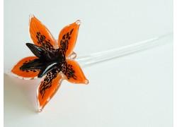 Glass lilies, blooming, orange www.sklenenevyrobky.cz