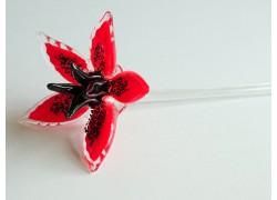 Glass lilies, blooming, red www.sklenenevyrobky.cz