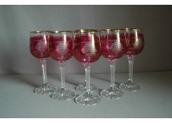 Sklenice na víno Diana 190ml listr set 6 ks dekor víno červená
