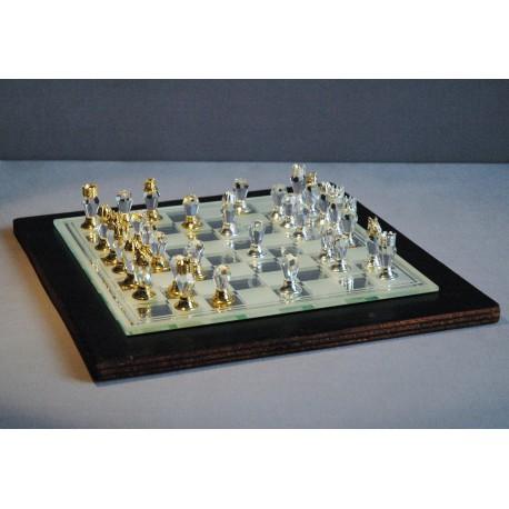 Skleněné šachy broušené 500/11 L 18x18 cm