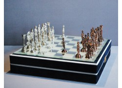 Antique tin chess 24x24 cm