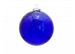 Glass ball blue 10cm www.sklenenevyrobky.cz