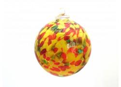 Glass ball 10cm red-yellow www.sklenenevyrobky.cz
