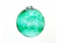 Glass ball 10cm green www.sklenenevyrobky.cz