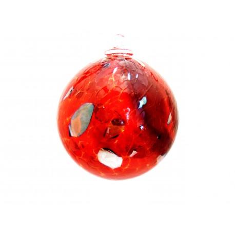 Glass ball 10cm to red www.sklenenevyrobky.cz