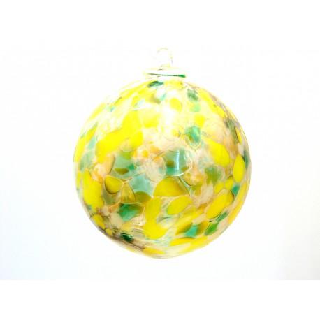 Glass ball 10cm yellow www.sklenenevyrobky.cz
