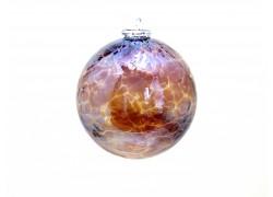 Glass ball 10cm metallic shiny www.sklenenevyrobky.cz