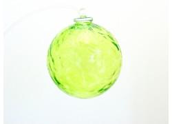 Glass ball 10cm light green www.sklenenevyrobky.cz