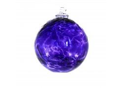Glass ball 10cm dark purple www.sklenenevyrobky.cz