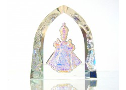 Jezulátko pokovená skleněná plaketa