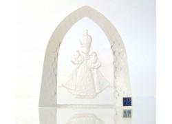 Infant Jesus of Prague frosted glass plaque www.sklenenevyrobky.cz