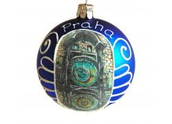 Vánoční koule 8cm motiv Pražský orloj www.sklenenevyrobky.cz