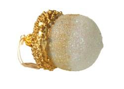 Christmas glass ornament big acorn 7x4,5cm