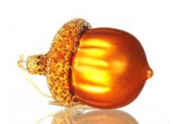 Christmas glass ornament acorn www.sklenenevyrobky.cz