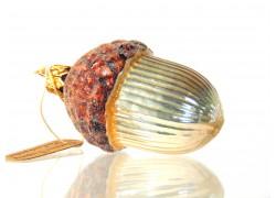 Christmas retro ornament acorn in copper mat www.sklenenevyrobky.cz