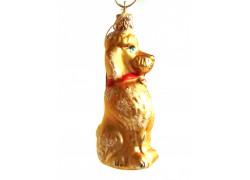 Christbaumsmuck Pudelhund Goldmatte www.sklenenevyrobky.cz