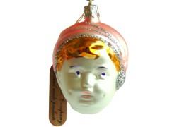 Retro Christmas Ornament of a small boy www.sklenenevyrobky.cz